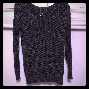 Black silver threaded sweater